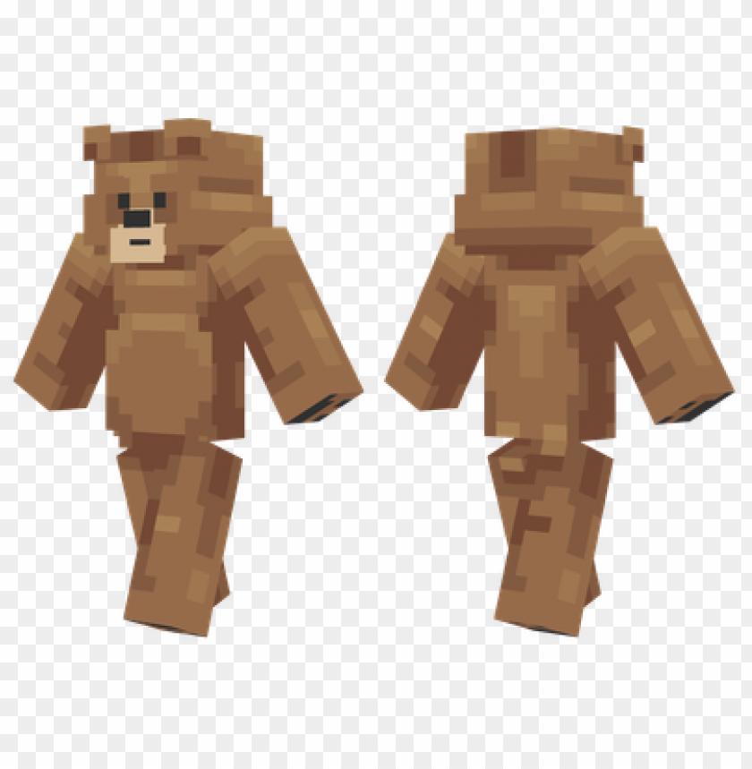 скины майнкрафт медвежонок #9