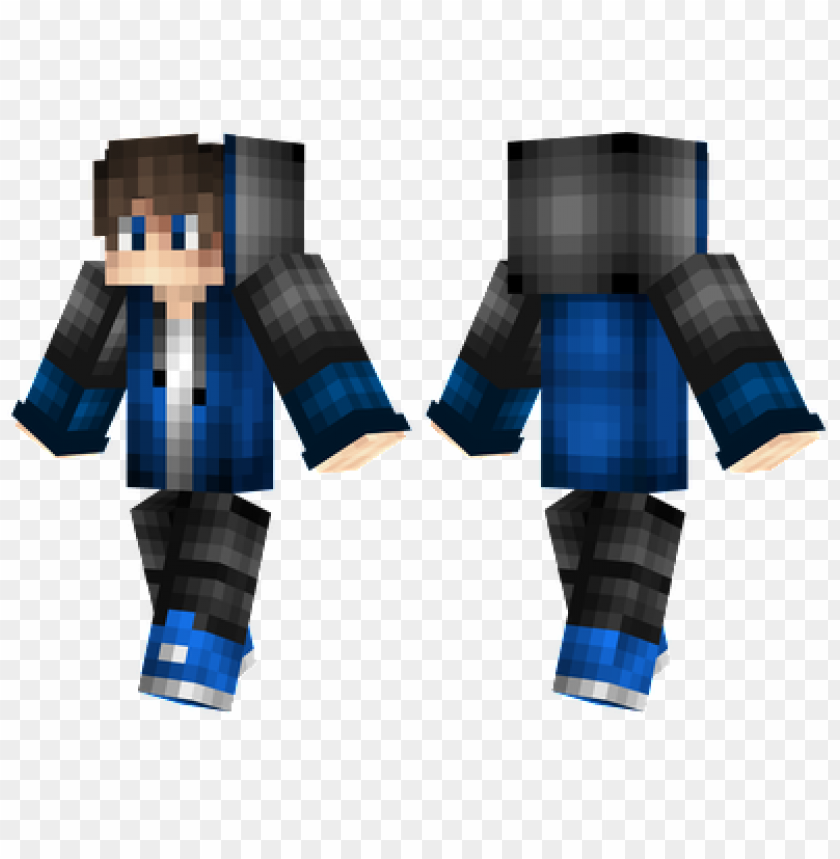 Minecraft Skins Black And Blue Skin Png Image With Transparent Background Toppng