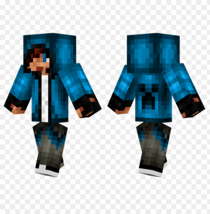 Minecraft Skins Blue Hoodie Skin Png Image With Transparent Background Toppng