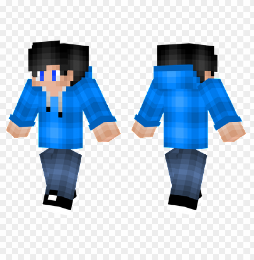 Minecraft Skins Bright Blue Hoodie Skin Png Image With Transparent Background Toppng