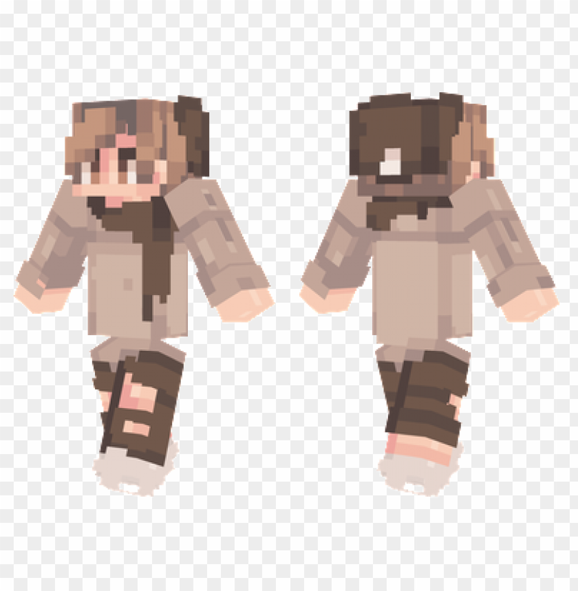 Minecraft Skins Brown Scarf Skin Png Image With Transparent Background Toppng