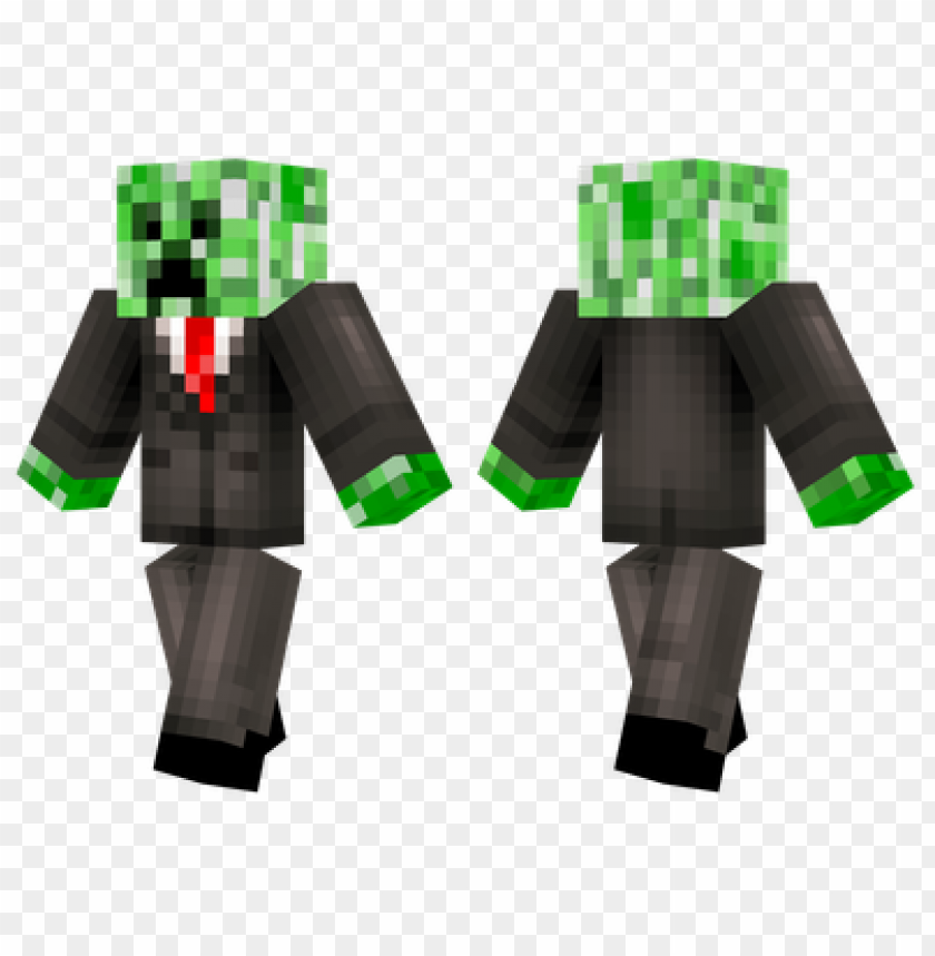 Minecraft Skins Business Creeper Skin Png Image With Transparent Background Toppng