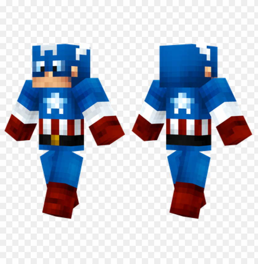 free PNG minecraft skins captain america skin PNG image with transparent background PNG images transparent