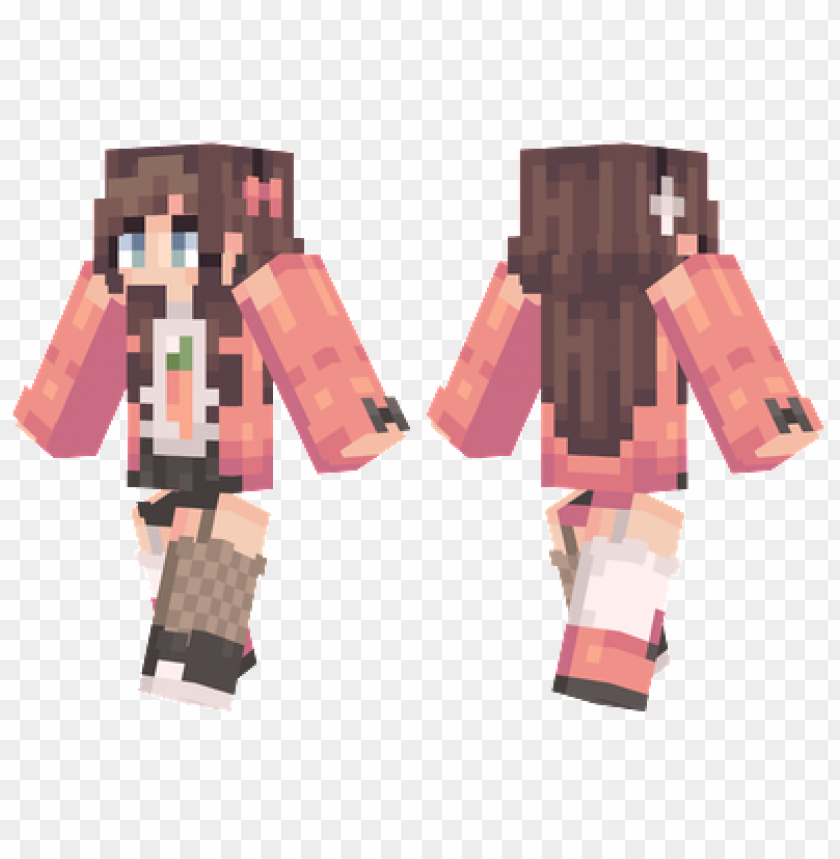 free PNG minecraft skins carrot girl skin PNG image with transparent background PNG images transparent