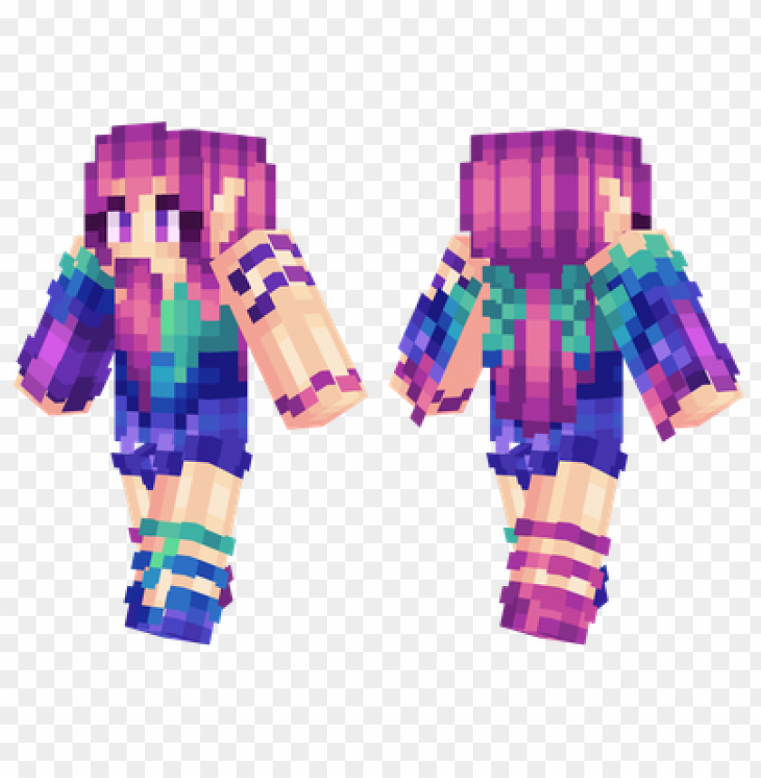 free PNG minecraft skins colourful girl skin PNG image with transparent background PNG images transparent
