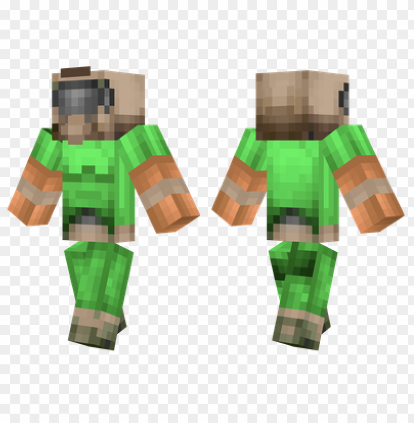 Minecraft Skins Doom Guy Skin Png Image With Transparent