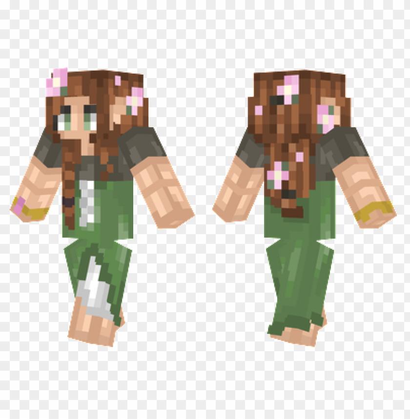 free PNG minecraft skins elven girl skin PNG image with transparent background PNG images transparent