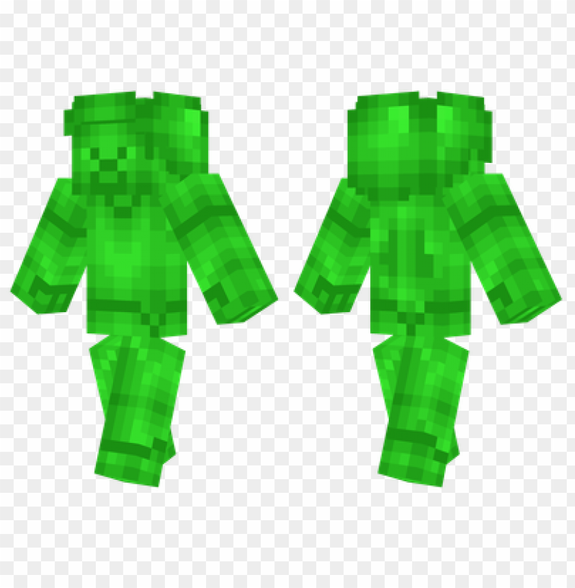 Minecraft Skins Emerald Steve Skin Png Image With Transparent Background Toppng
