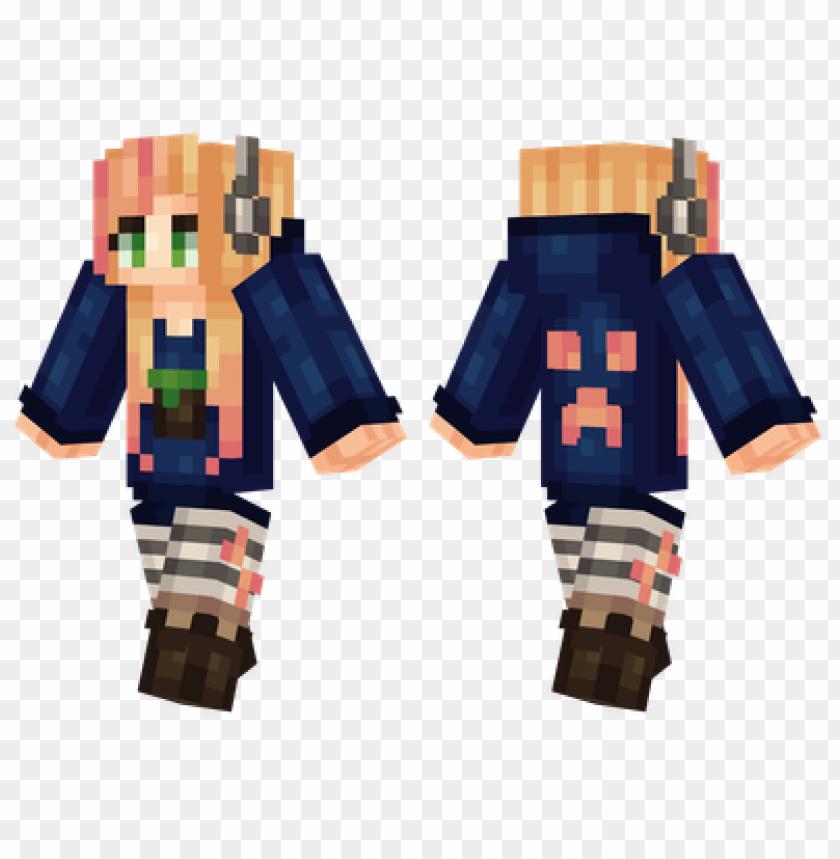 free PNG minecraft skins gamer girl skin PNG image with transparent background PNG images transparent
