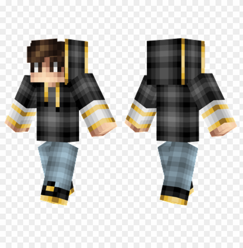 Minecraft Skins Golden Hoodie Skin Png Image With Transparent Background Toppng
