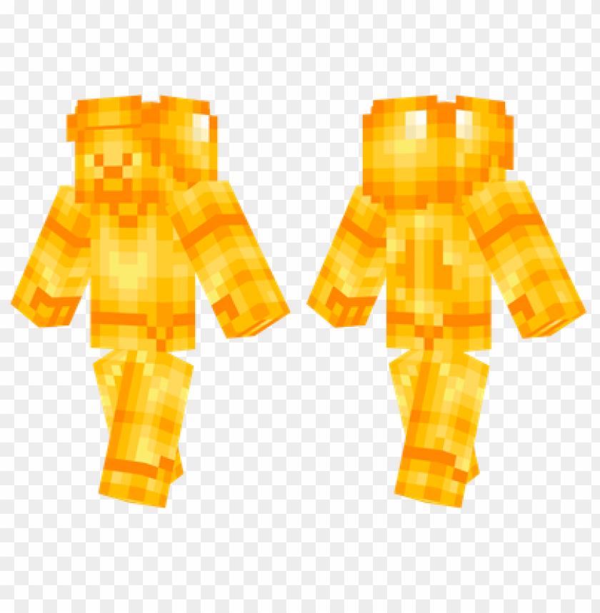 Minecraft Skins Golden Steve Skin Png Image With Transparent Background Toppng