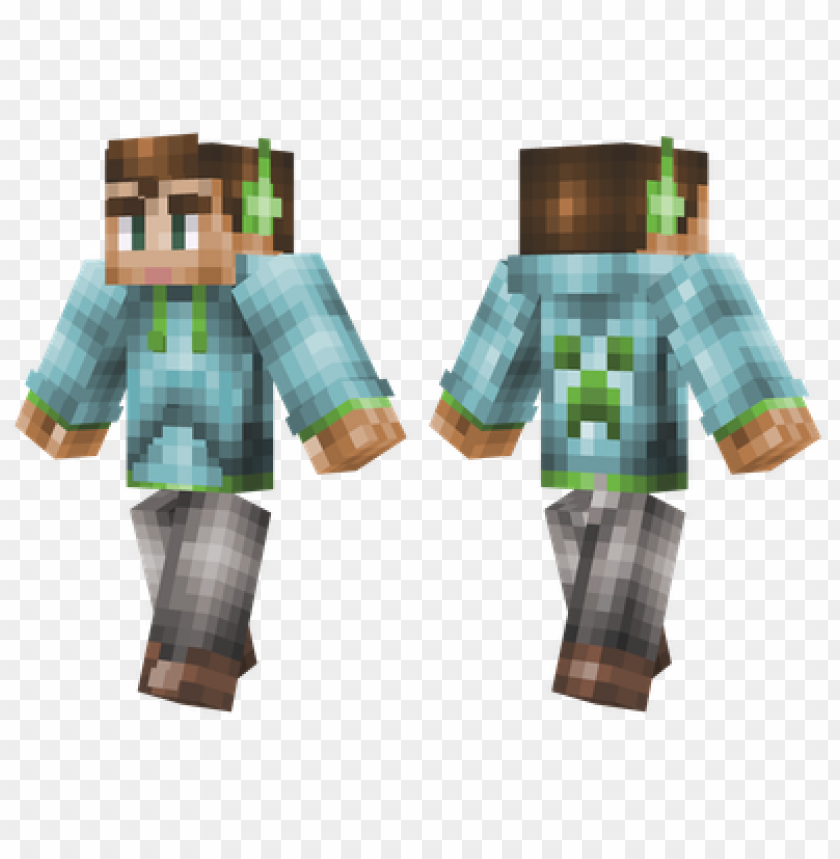 Minecraft Skins Light Blue Hoodie Skin Png Image With Transparent Background Toppng