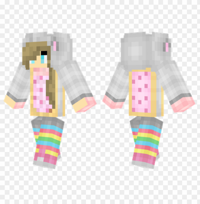 free PNG minecraft skins nyan cat girl skin PNG image with transparent background PNG images transparent