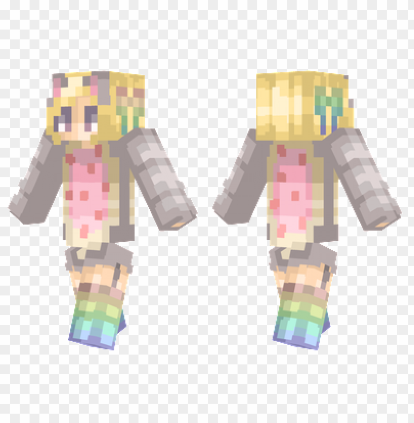 free PNG minecraft skins nyan girl skin PNG image with transparent background PNG images transparent