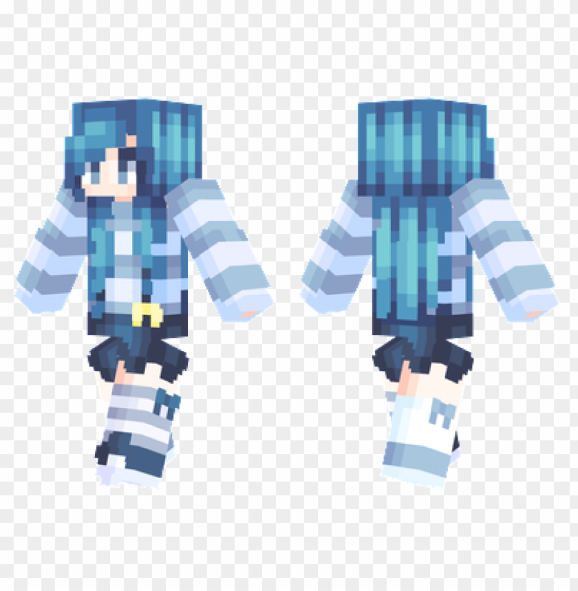 Minecraft Skins Ocean Blue Skin Png Image With Transparent