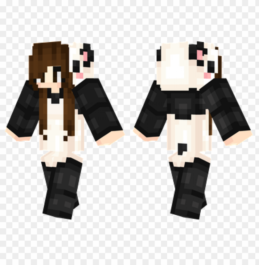 Minecraft Skins Panda Girl Skin Png Image With Transparent Background Toppng