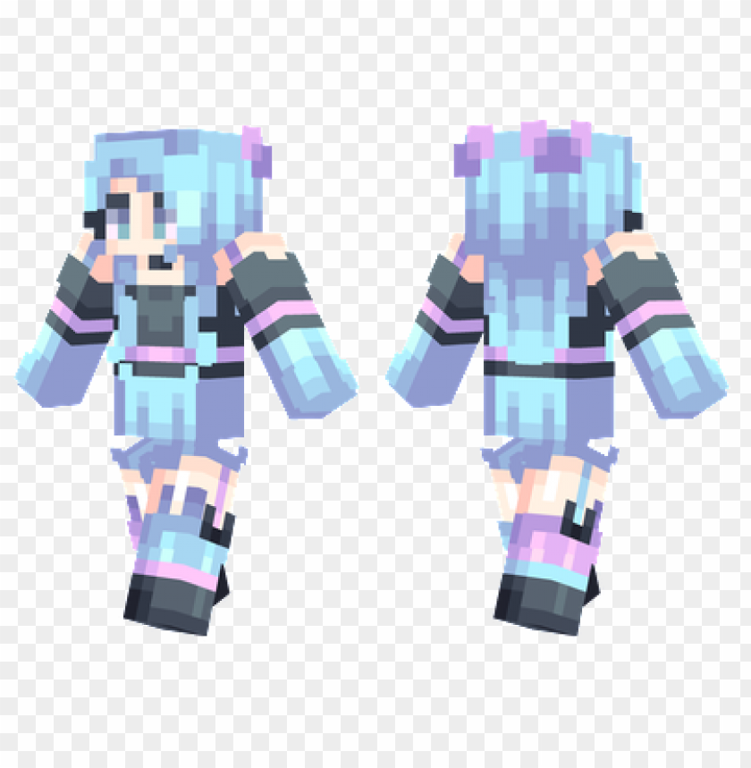Minecraft Skins Pastel Blue Skin Png Image With Transparent Background Toppng