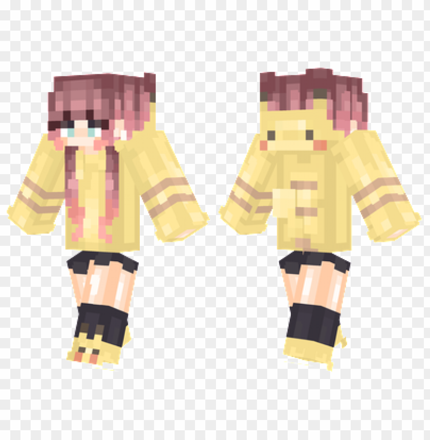 Minecraft Skins Pikachu Hoodie Skin Png Image With Transparent Background Toppng