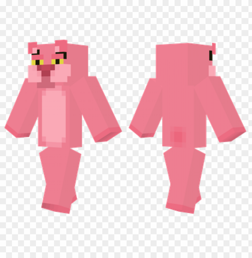 free PNG minecraft skins pink panther skin PNG image with transparent background PNG images transparent