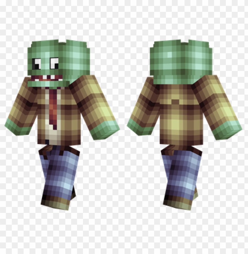 Minecraft Skins Plants Vs Zombies Skin Png Image With