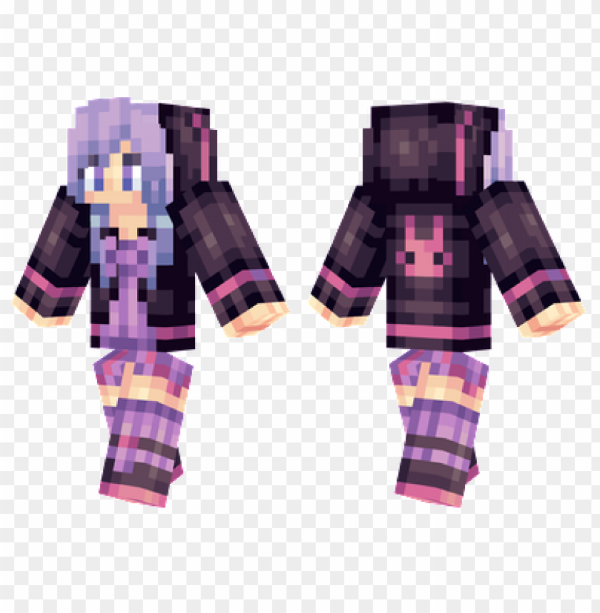 Minecraft Skins Purple Bunnie Skin Png Image With Transparent Background Toppng