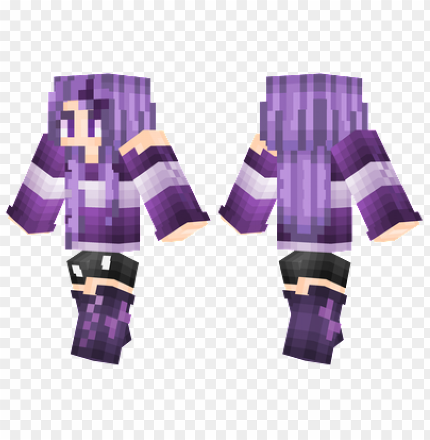 free PNG minecraft skins purple girl skin PNG image with transparent background PNG images transparent