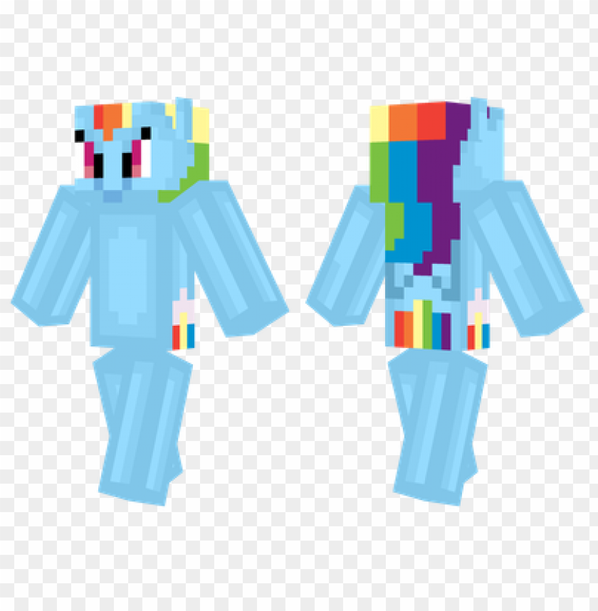 Minecraft Skins Rainbow Dash Skin Png Image With Transparent