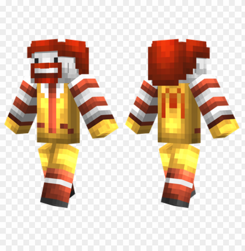 free PNG minecraft skins ronald mcdonald skin PNG image with transparent background PNG images transparent