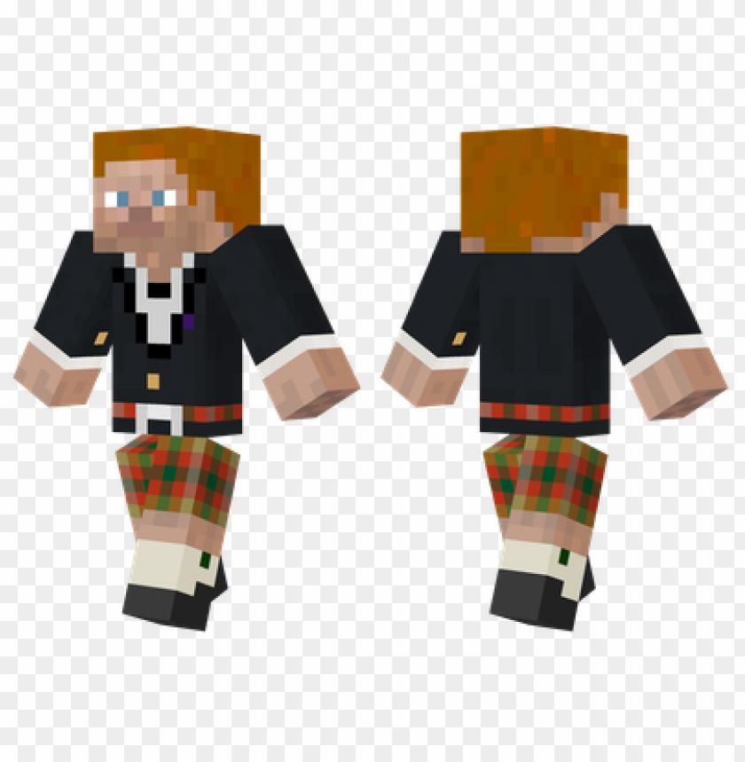 Minecraft Skins Scottish Steve Skin Png Image With Transparent