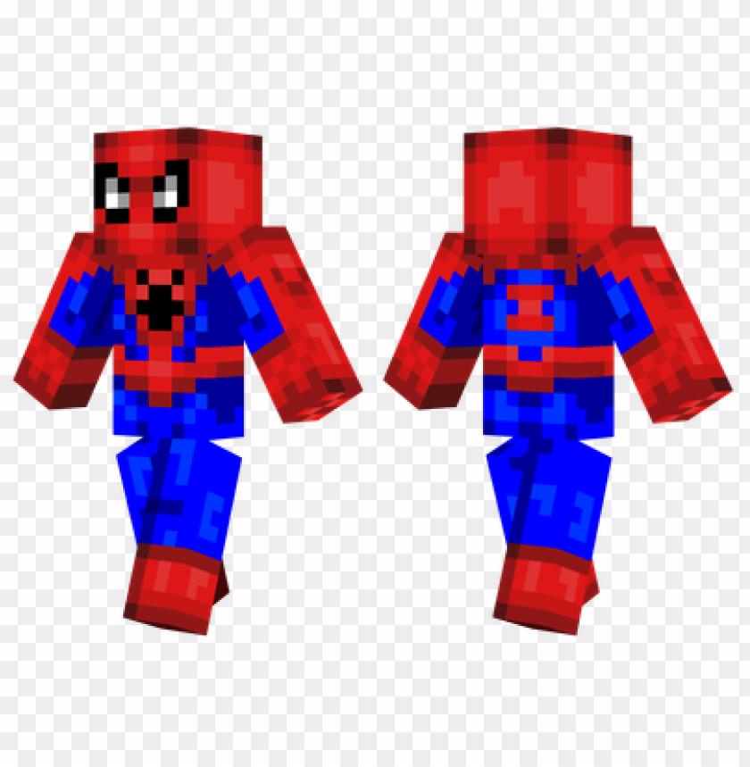free PNG minecraft skins spiderman skin PNG image with transparent background PNG images transparent