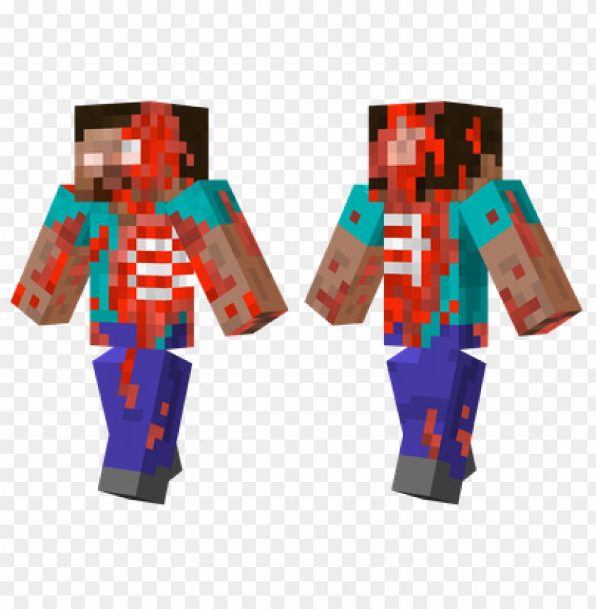 Minecraft Skins Steve Zombie Skin Png Image With Transparent Background Toppng