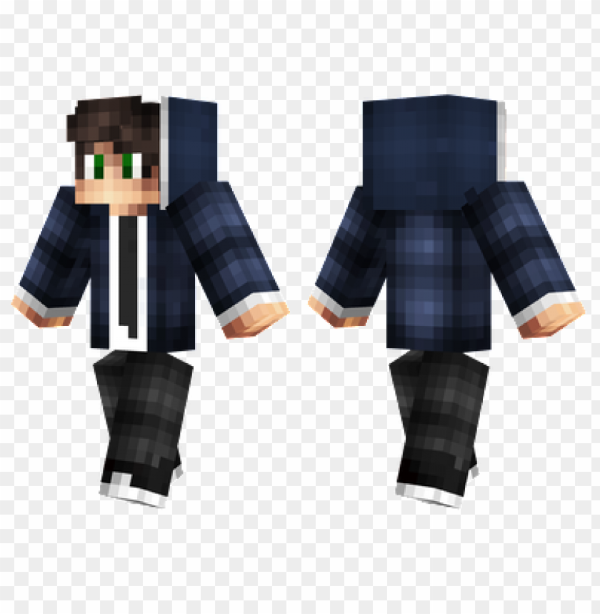 Minecraft Skins Suit Hoodie Skin Png Image With Transparent Background Toppng