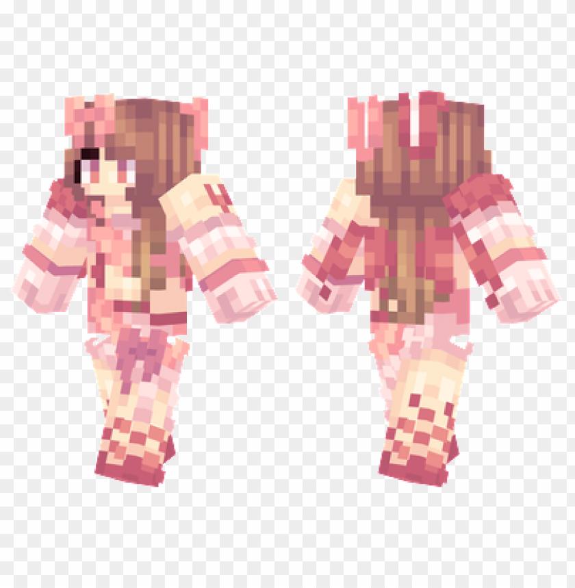 free PNG minecraft skins valentines bunny skin PNG image with transparent background PNG images transparent