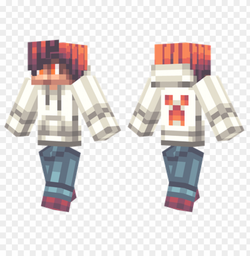 Minecraft Skins White Hoodie Skin Png Image With Transparent