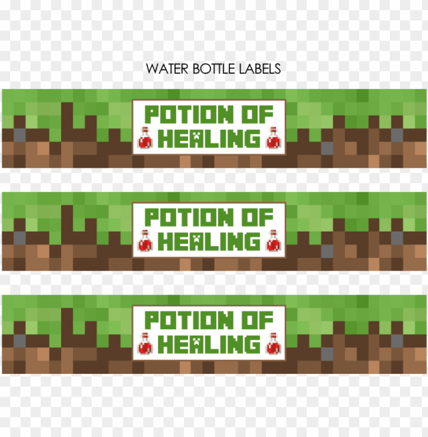 It's just an image of Free Printable Minecraft Food Labels pertaining to birthday