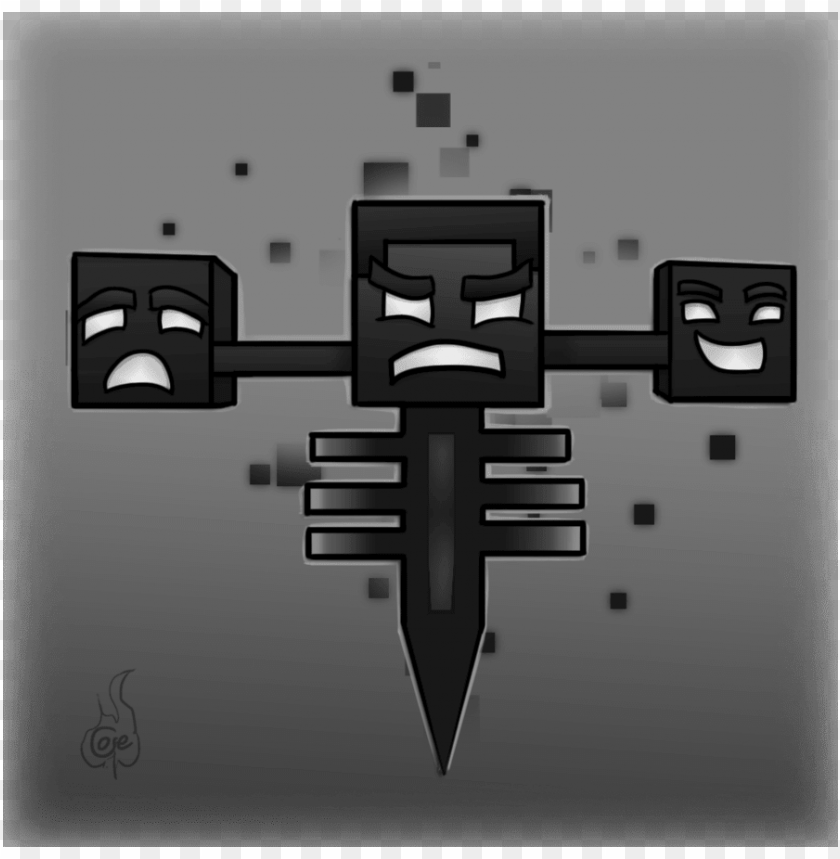free PNG minecraft wither drawing - wither minecraft PNG image with transparent background PNG images transparent