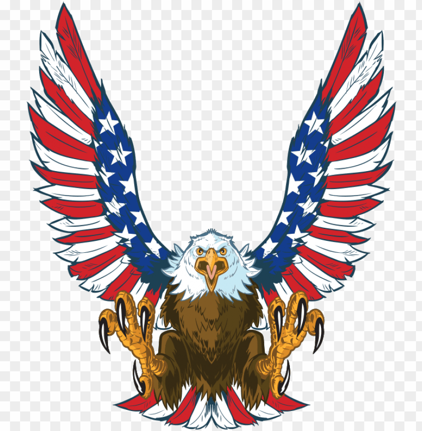 free PNG mini cornhole patriotic eagle decals - american bald eagle clipart PNG image with transparent background PNG images transparent