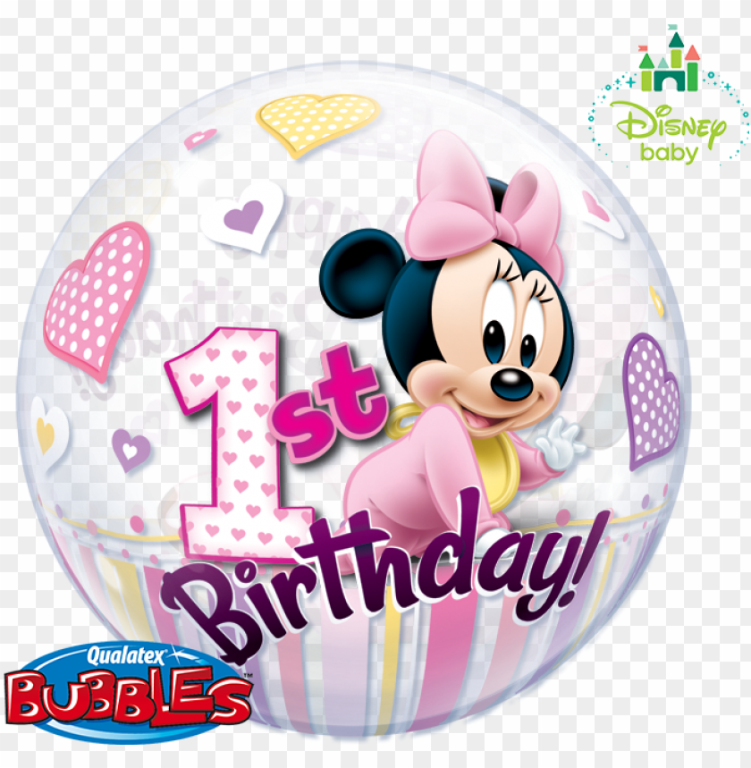 free PNG minnie bubble balloon baby minnie - 1st mickey mouse images hd PNG image with transparent background PNG images transparent