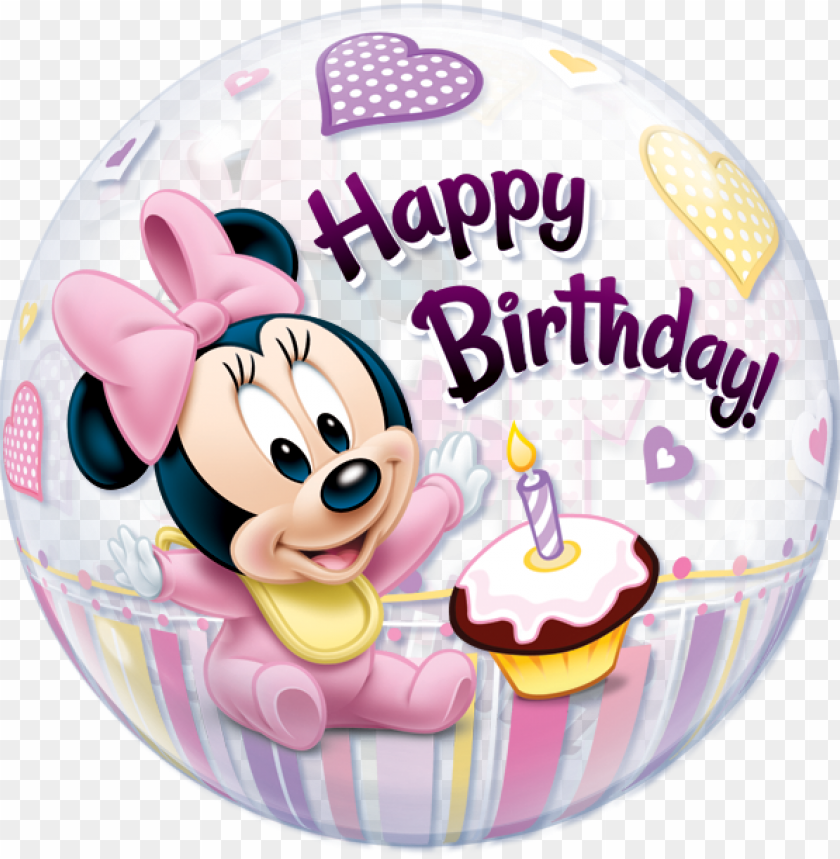 free PNG minnie mouse 1st birthday - minnie mouse happy birthday balloo PNG image with transparent background PNG images transparent