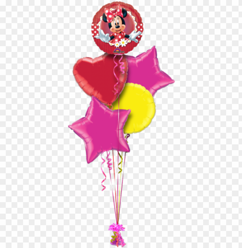 free PNG minnie mouse birthday balloon - amscan minnie mouse balloon - 9 inch mini foil PNG image with transparent background PNG images transparent