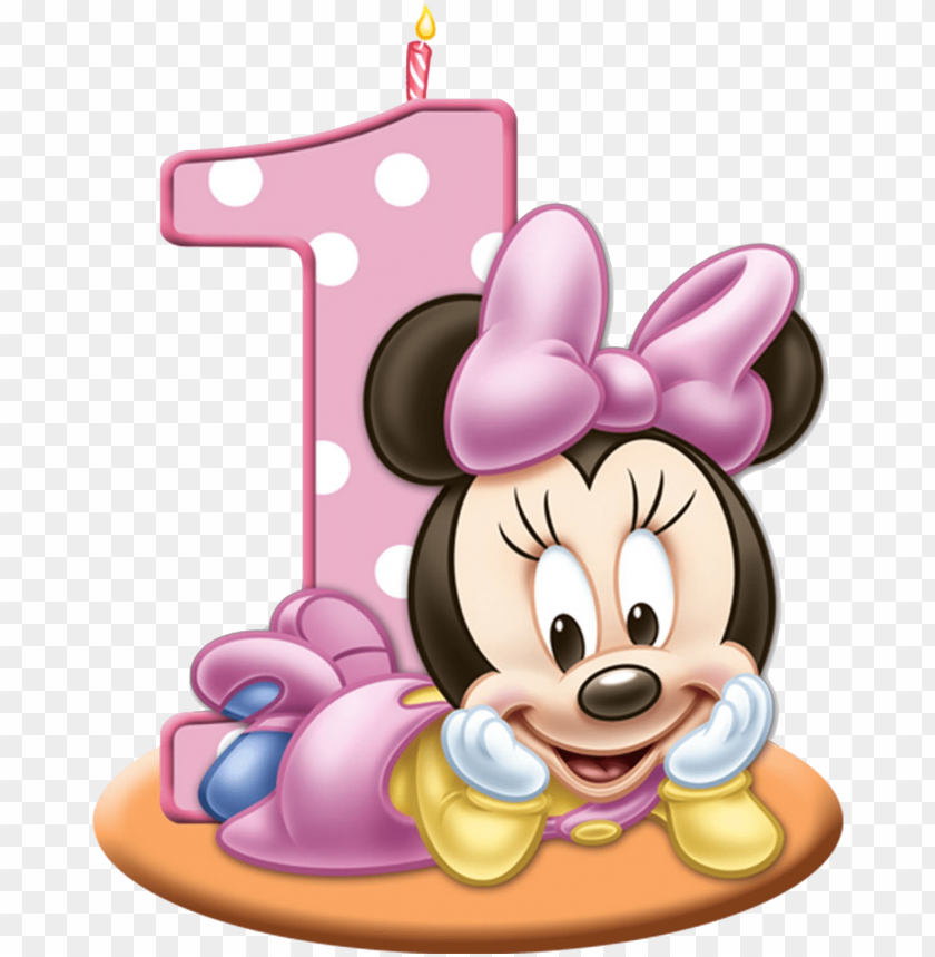 free PNG minnie mouse png baby girl birthday, - minnie mouse 1st PNG image with transparent background PNG images transparent