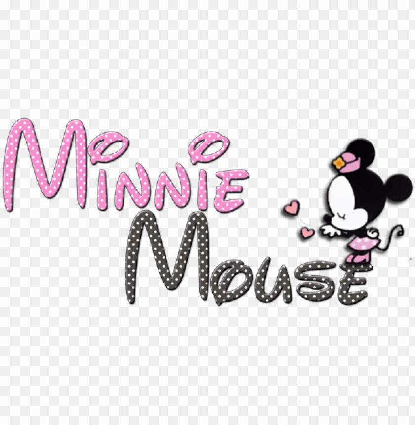 free PNG minnie mouse png - minnie mouse en letras PNG image with transparent background PNG images transparent