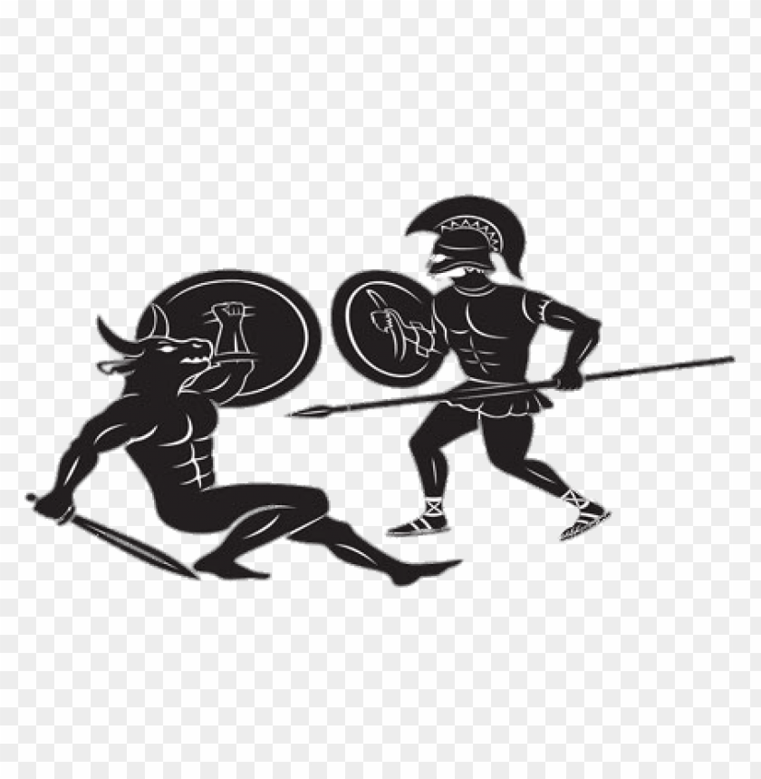 free PNG minotaur and greek soldier PNG image with transparent background PNG images transparent
