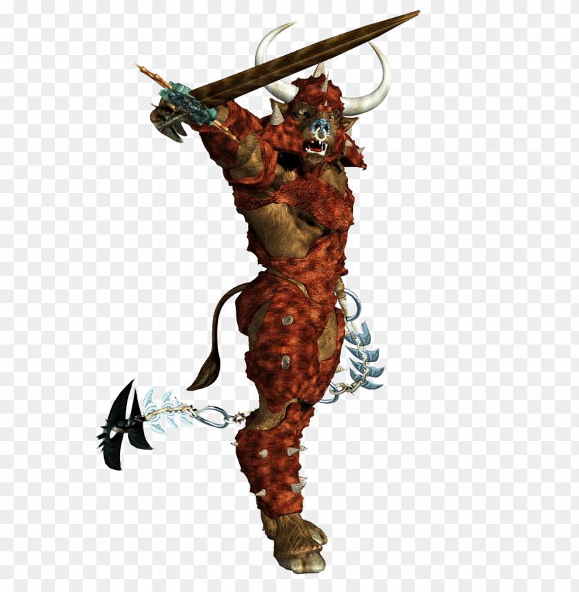 free PNG minotaur brandishing sword PNG image with transparent background PNG images transparent