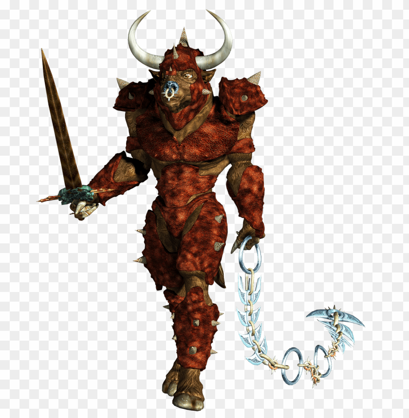 free PNG minotaur holding chain PNG image with transparent background PNG images transparent