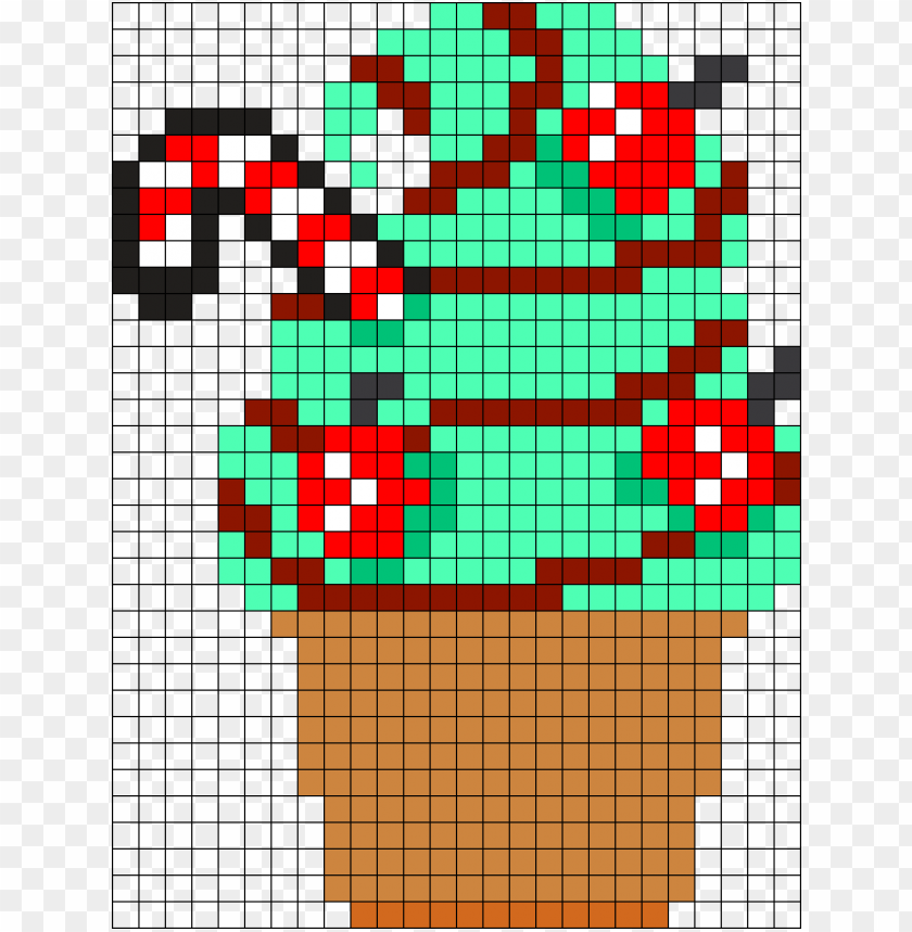 free PNG mint chocolate icecream perler bead pattern / bead - mint chocolate PNG image with transparent background PNG images transparent