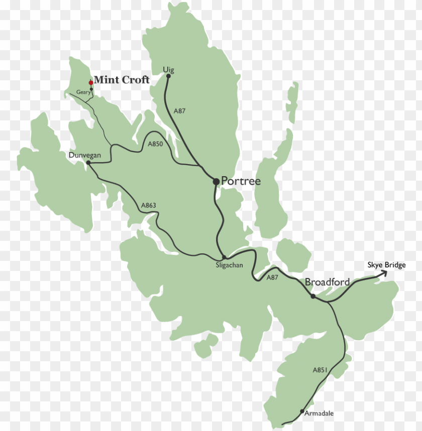 free PNG mint croft skye map - isle of skye map pdf PNG image with transparent background PNG images transparent