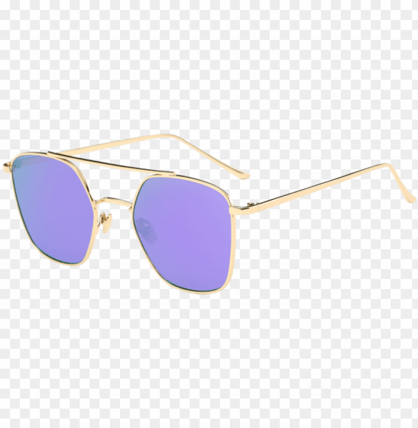 free PNG mirrored reflective geometrical metal crossbar sunglasses - lilac PNG image with transparent background PNG images transparent