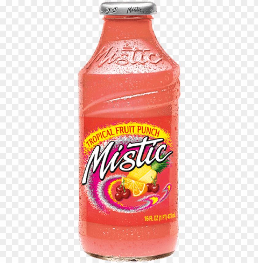 free PNG mistic tropical fruit punch juice drink - mistic bahama blueberry, 16 fl oz glass bottle PNG image with transparent background PNG images transparent