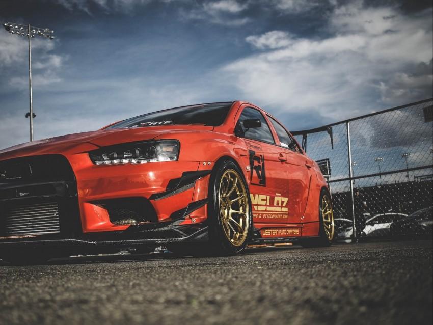 free PNG mitsubishi lancer evolution x, mitsubishi, sports car, racing, side view, red background PNG images transparent
